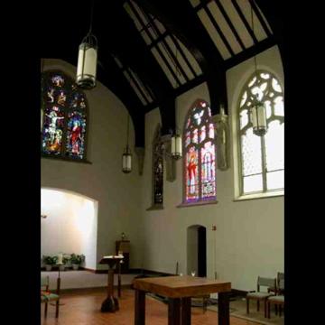 022 Sept 11 Memorial Window In Place Corr Chapel Villanova