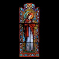 028- Sept 11 memorial window- Madonna - Corr Chapel Villanova University - Villanova PA (USA)