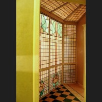052- door panel - private residence - Poggibonsi - Siena (Italy)