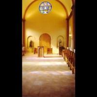 079- Internal view with Madonna - Carmelite Monastery Denmark WI (USA)