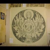 086- Madonna cartoon -Carmelite Monastery Denmark WI (USA)