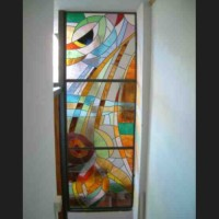 184- dividing panel - private residence - Siena (Italy)