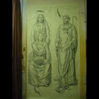 224- Anna and Patrick cartoon - St Augustine church - New City NY (USA)