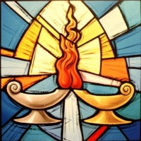 432- Lamp symbol - Christ the King Church - Courtney (CAN)