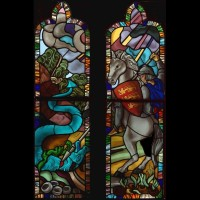494- St George and the dragon - St George Cathedral Basseterre (St Kitts and Nevis)